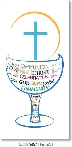 Free Art Print Of Eucharist Holy Communion Symbol Freeart Fa39764571