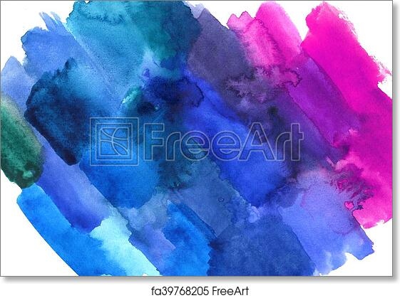 Free Art Print Of Abstract Watercolor Colorful Texture Background