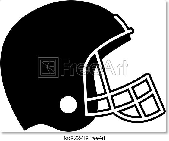 photo about Printable Football Helmet titled No cost artwork print of Soccer Helmet Vector Icon