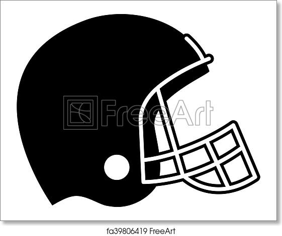 Free Art Print Of Football Helmet Vector Icon