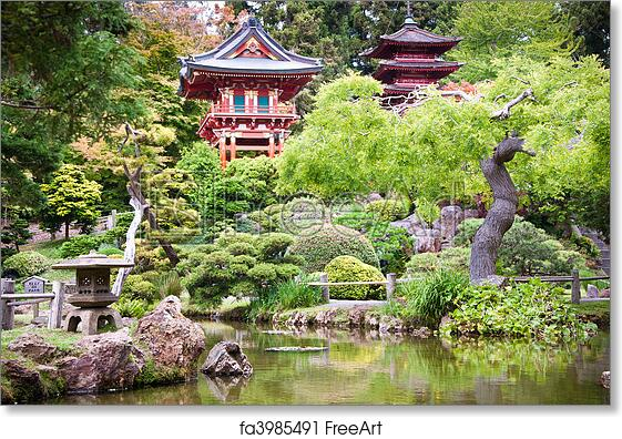 free art print of japanese tea garden - Golden Gate Park Japanese Tea Garden