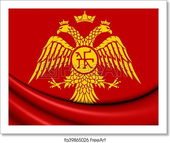 free art print of byzantine eagle flag of palaiologos dynasty 3d