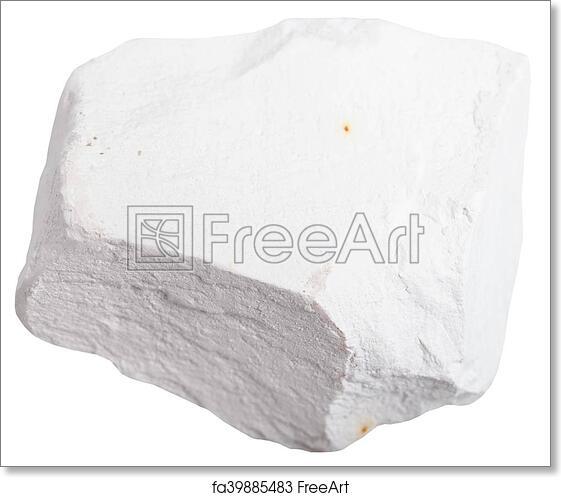 Free Art Print Of Chalk Stone Isolated On White Background