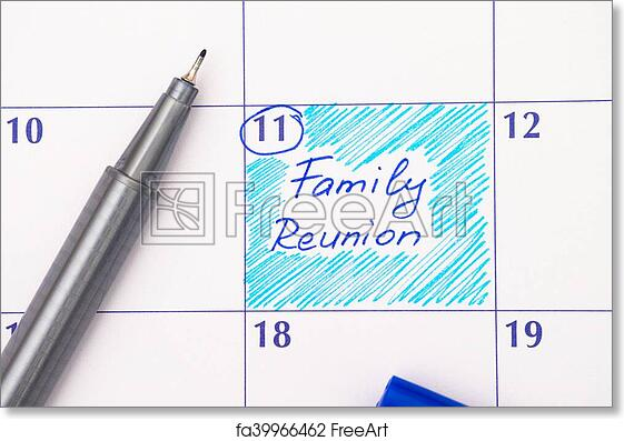 Free Art Print Of Reminder Family Reunion In Calendar