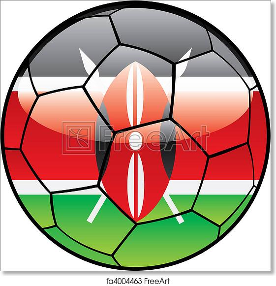 Free Art Print Of Kenya Flag On Soccer Ball