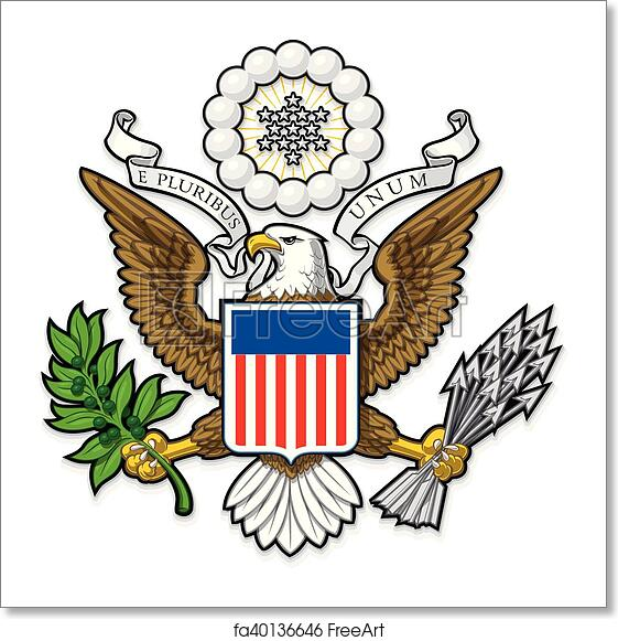 a56db0dbd Highly detailed vector design of a monochromatic embossed, gold official Great  Seal of the United States. EPS 10 with a 25 Mpxl, Q12 JPEG preview.