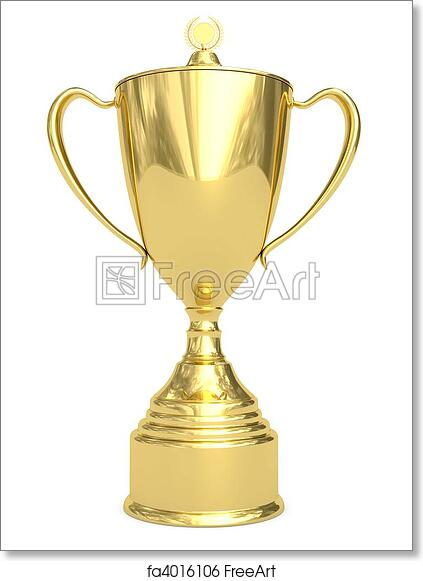 photo regarding Printable Trophy titled Free of charge artwork print of Golden trophy cup upon white