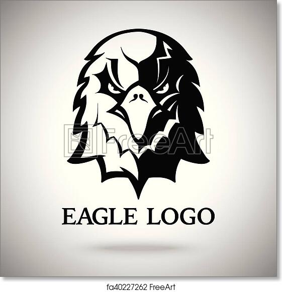free art print of vector eagle template for logo badge label etc