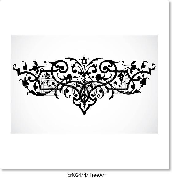 Free art print of Vector Swirl Ornament