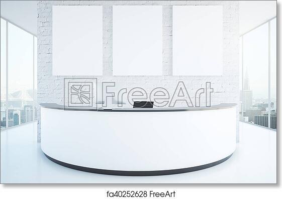 Free art print of Modern reception desk in room