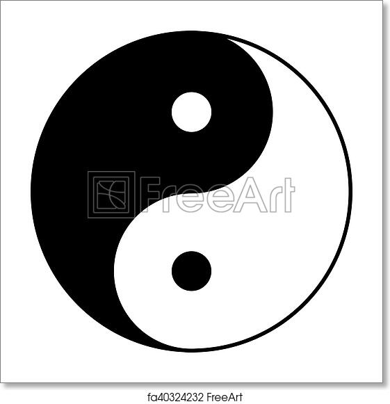 Free Art Print Of Yin Yang Symbol In Black And White Yin Yang
