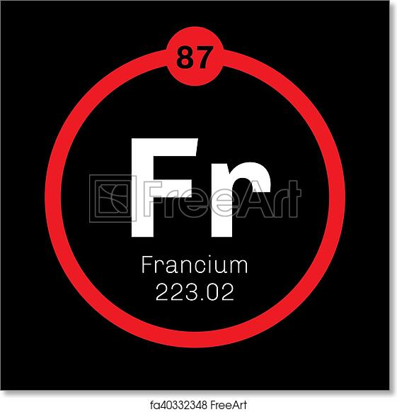 Free Art Print Of Francium Chemical Element Francium Chemical