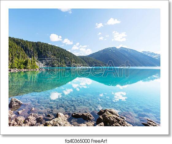 Lakes In Bc Canada: Free Art Print Of Garibaldi Lake. Hike To Turquoise