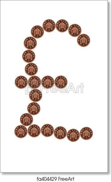 Free Art Print Of Pounds From Pennies Pound Symbol Made From