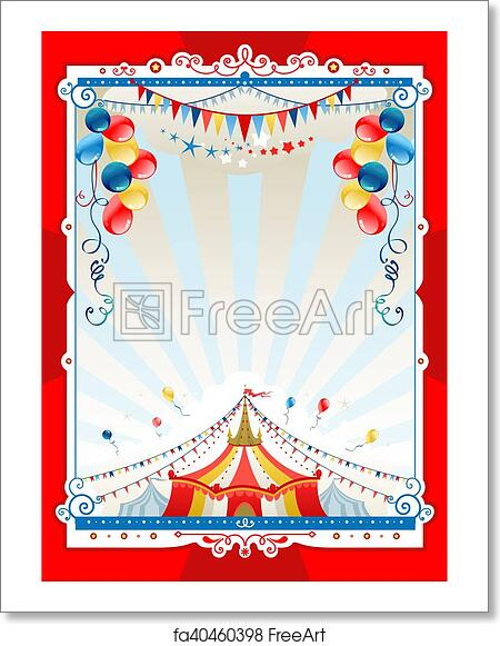 Free art print of Bright circus frame. Bright circus frame with ...