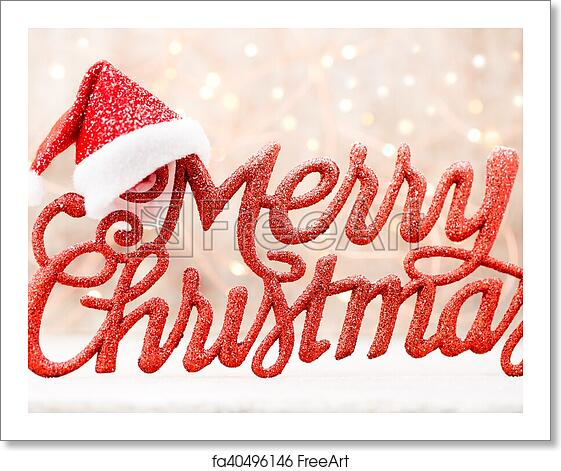 Christmas Lettering.Free Art Print Of Holiday Lettering Merry Christmas Red Grunge