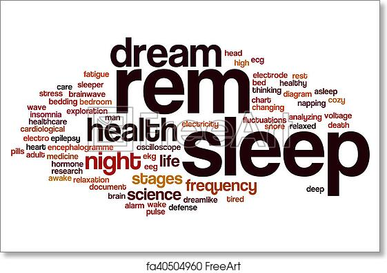 Free art print of REM sleep word cloud