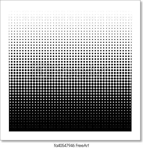 Free art print of Vector halftone dots