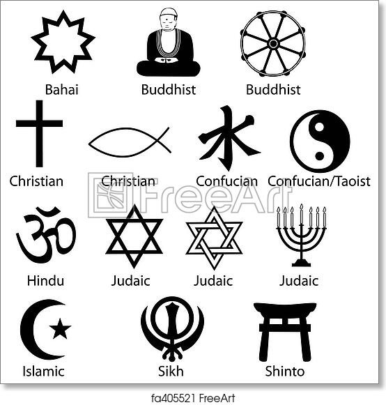 Free Art Print Of Religious Symbols Sharp And Clean Make Excellent