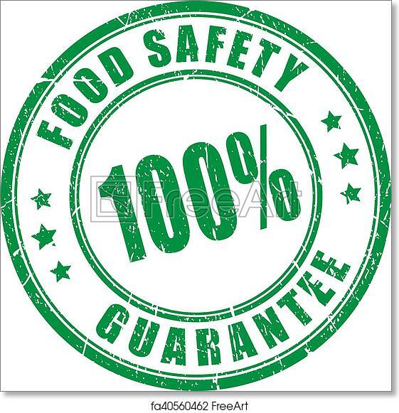 Free art print of Food safety guarantee stamp