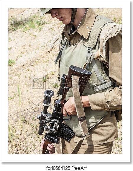 Free art print of Soviet paratrooper in Afghanistan