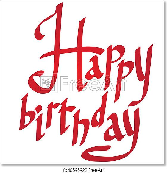 image relating to Happy Birthday Lettering Printables identify Totally free artwork print of Vector Satisfied birthday lettering