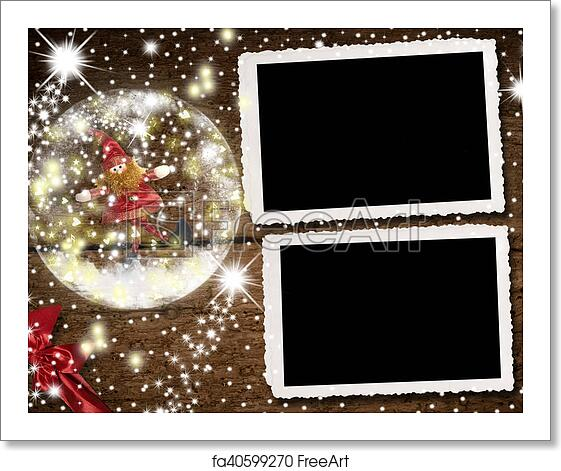 Christmas Card Frame.Free Art Print Of Christmas Photo Frames For Two Photos