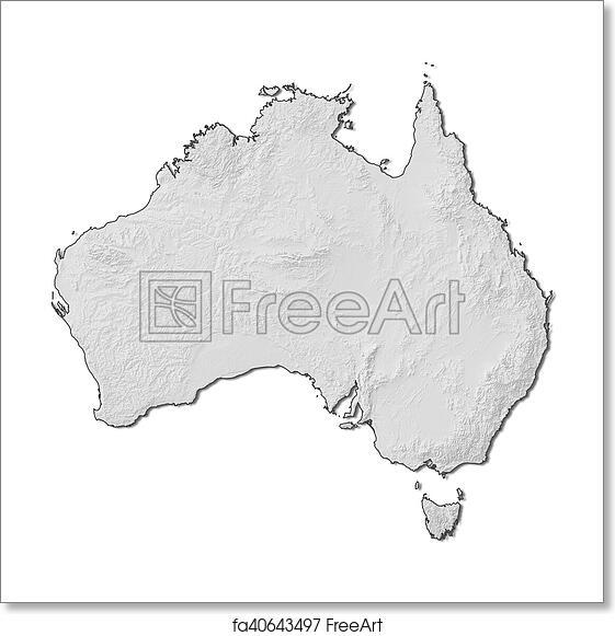 Free 3d Map Of Australia.Free Art Print Of Relief Map Australia 3d Rendering