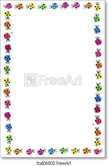 Free Art Print Of Ladybug Borders Colorful Ladybug Border And Frame
