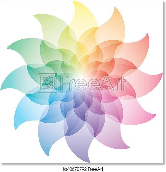 Free Art Print Of Beautiful Lotus Flower Color Wheel Icon Beautiful