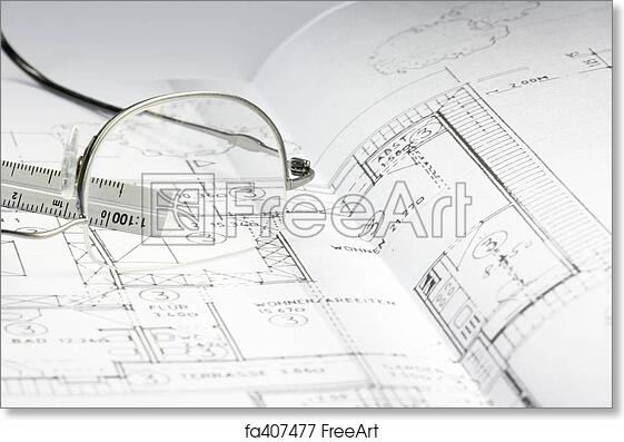 Free art print of blueprint of a building 06 cad draft of a house free art print of blueprint of a building 06 malvernweather Image collections