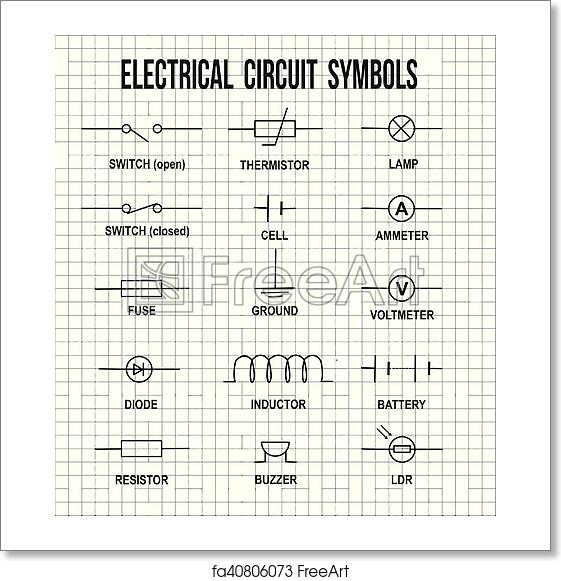 Free art print of Electrical circuit symbols Electrical Print Symbols on wiring diagram symbols, happy human, printed circuit board, electrical wiring blueprint, aerospace print symbols, laundry symbol, residential print symbols, industrial motor control symbols, manufacturing print symbols, ohm's law, mechanical print symbols, sheet metal print symbols, electrical amp symbol, hydraulic print symbols, piping print symbols, electrical disconnect symbol, print reading symbols, period-after-opening symbol, circuit diagram symbols, power symbol, blue print symbols, floor plan symbols, electrical network, welding print symbols, commonly used symbols, electronic circuit, hazard symbol, no symbol, communication print symbols, electronic color code, electrical blue print,