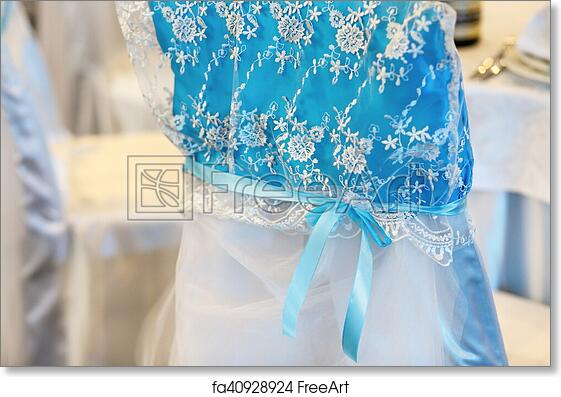 Free Art Print Of Beautiful Blue Chair Decoration For Wedding - Decorative-floral-print-chairs-from-floral-art