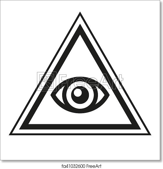 Free Art Print Of Masonic Symbol All Seeing Eye Inside Pyramid