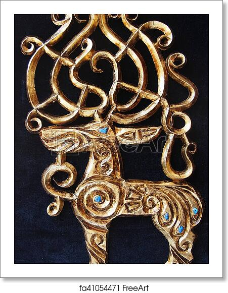 Free art print of Scythian gold - deer