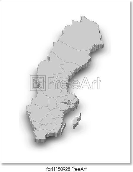 Free art print of Map - Sweden - 3D-Illustration  D Map Of Sweden on street view of sweden, outline map of sweden, blackout map of sweden, interactive map of sweden, travel map of sweden, coloring map of sweden, cartoon map of sweden, cute map of sweden, vintage map of sweden, hd map of sweden, food map of sweden, terrain map of sweden, print map of sweden, google map of sweden, black map of sweden,