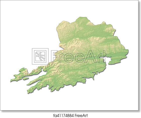 Map Of Ireland 3d.Free Art Print Of Relief Map Cork Ireland 3d Rendering