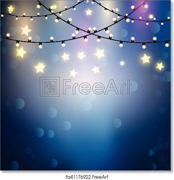 Christmas Lights Background.Free Art Print Of Christmas Lights Background