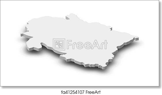Free art print of Map - Uttarakhand (India) - 3D-Illustration