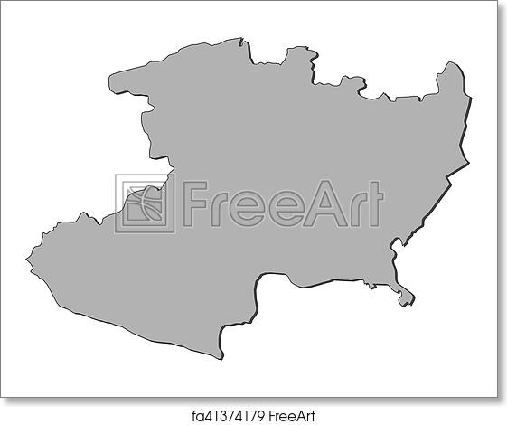 Free art print of Map - Michoacan (Mexico)