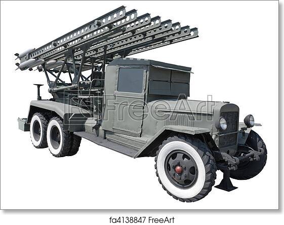 Free art print of Katyusha rocket launcher BM-13