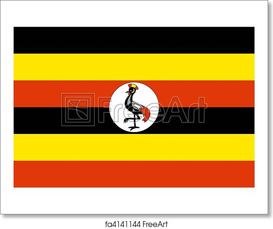 Free Art Print Of Uganda Flag. Sovereign State Flag Of