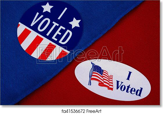 graphic about I Voted Stickers Printable identify Cost-free artwork print of \