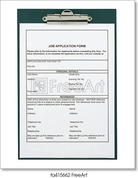 free art print of job application form freeart fa415662