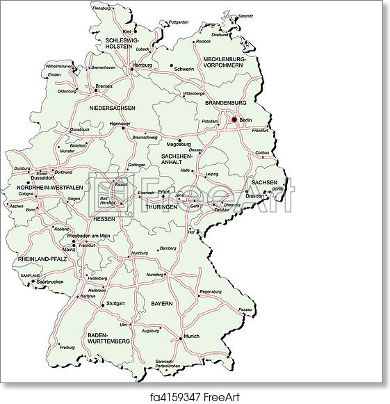 Where Is The Autobahn In Germany Map.Free Art Print Of Germany Autobahn Map Vectorial Map Of Germany