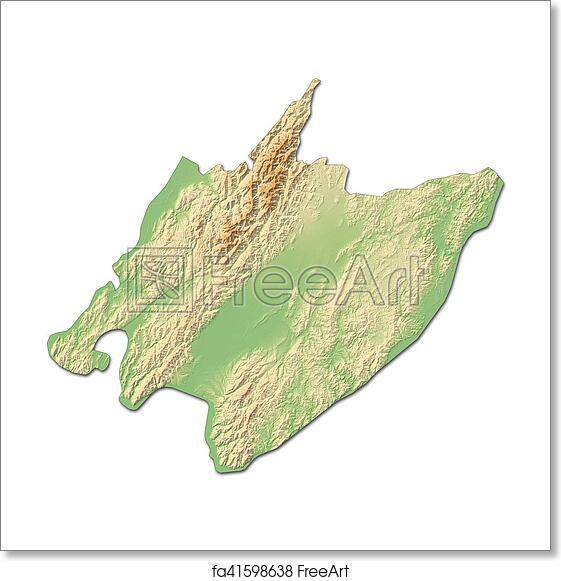 3d Map Of New Zealand.Free Art Print Of Relief Map Wellington New Zealand 3d Rendering