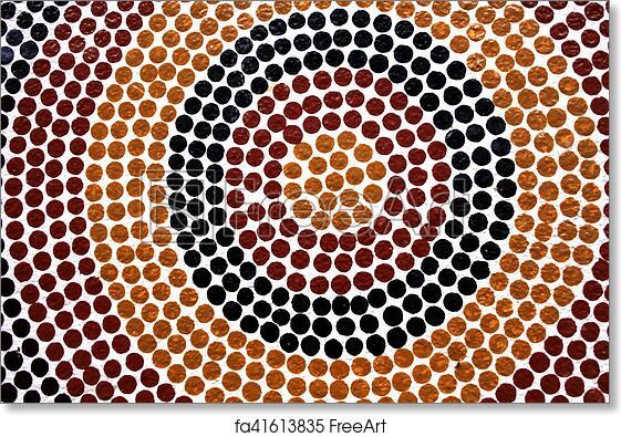 Free art print of Indigenous Australian art Dot painting