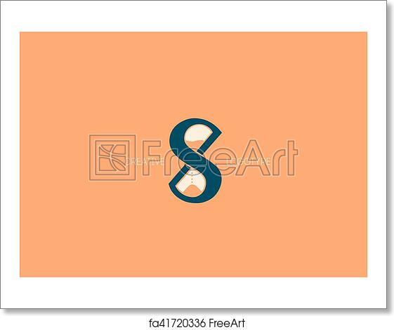 Free art print of Creative logo with a double meaning, the letter X, S and  hourglass