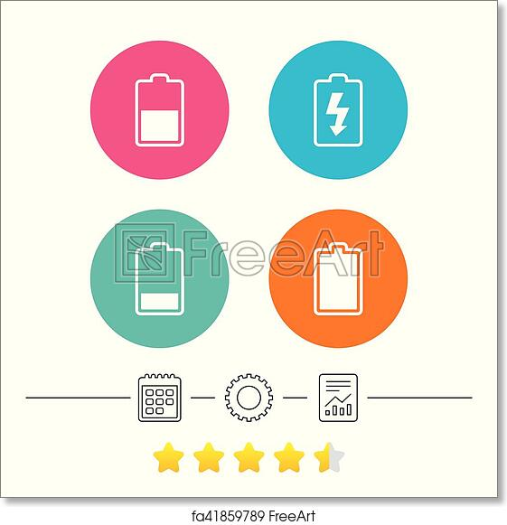 Free Art Print Of Battery Charging Icons Electricity Symbol