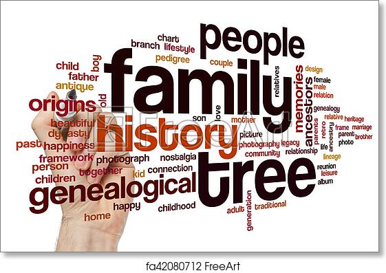 free art print of family tree word cloud family tree word cloud